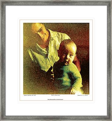 Spanish Mother And Child Framed Print