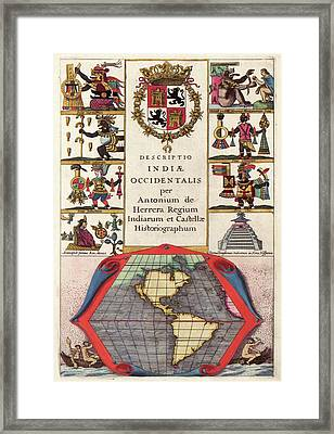 Spanish New World Atlas Title Page Framed Print