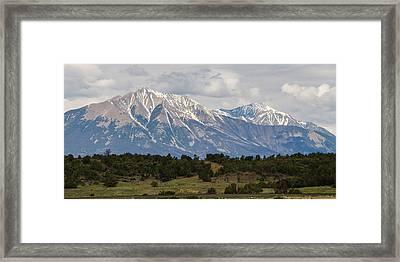 Spanish Peaks 2 Framed Print by Aaron Spong