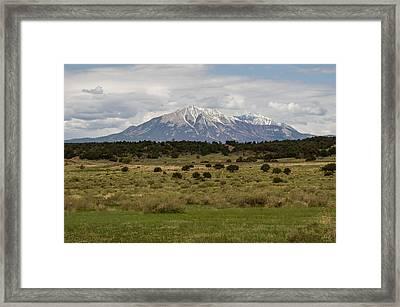 Spanish Peaks Framed Print by Aaron Spong