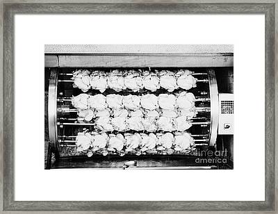 spanish rotisserie chicken oven Cambrils Catalonia Spain Framed Print by Joe Fox