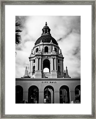 Spanish Style Dome On Pasadena City Hall Building Framed Print by Laura Palmer