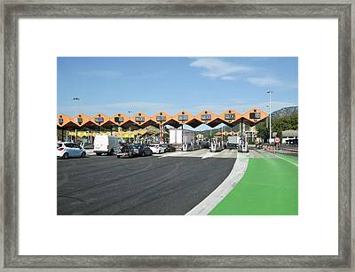 Spanish Toll Booths Framed Print by Photostock-israel