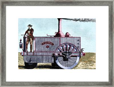 Spanish Traction Engine 'alfonso' Framed Print by Prisma Archivo