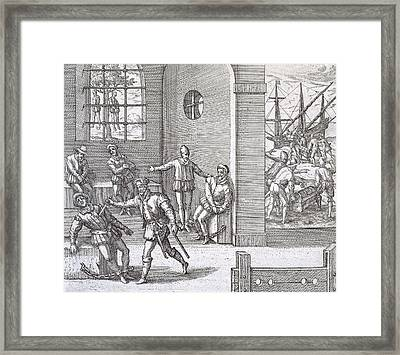 Spanish Traitors In Panama Framed Print
