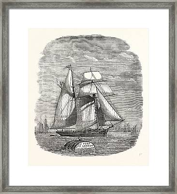 Spanish Vessel Arriving With Christmas Fruit 1854 Framed Print by English School
