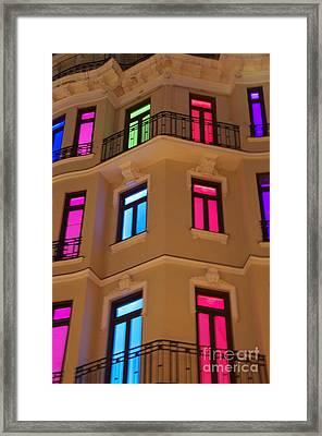 Spanish Windows Framed Print
