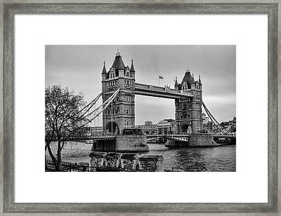 Spanning The Thames Framed Print by Heather Applegate