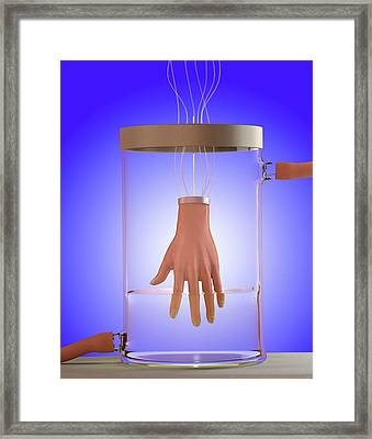 Spare Hand Framed Print by Tim Vernon
