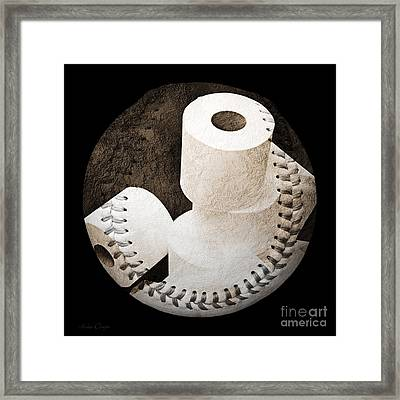 Spare Rolls Baseball Square Framed Print by Andee Design