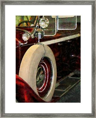 Spare Tire Framed Print by Susan Savad