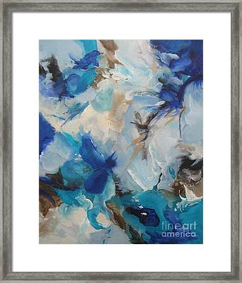 Framed Print featuring the painting Spark 21 by Elis Cooke