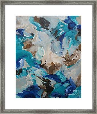 Framed Print featuring the painting Spark 22 by Elis Cooke