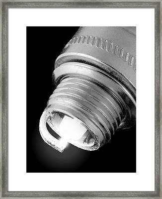Spark Plug Framed Print by Jim Hughes