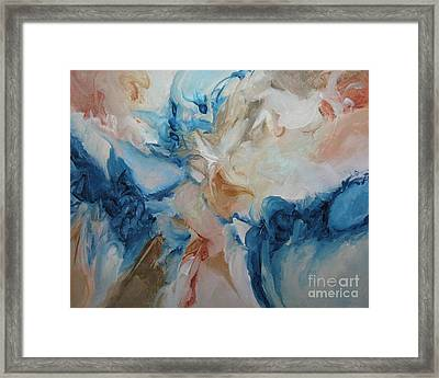 Framed Print featuring the painting Spark Xvii by Elis Cooke