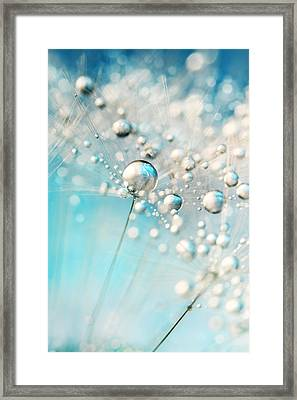 Sparkle In Blue Framed Print