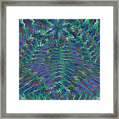 Sparkle Star Blue Mountain And Valley Signature Art Graphics By Navinjoshi Framed Print