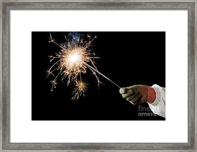 Sparkler Demonstration Framed Print by Martyn F. Chillmaid