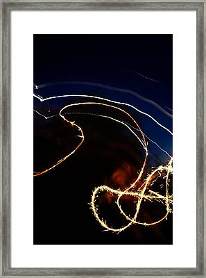 Framed Print featuring the photograph Sparkler by Joel Loftus