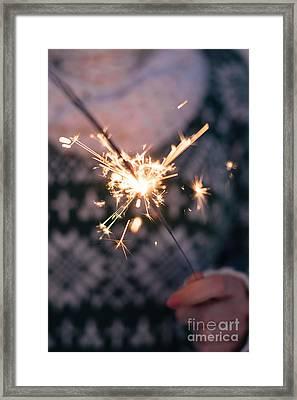Sparkler  Framed Print by Viktor Pravdica