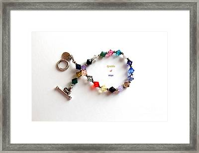 Sparkles Of Hope Cancer Bracelet Framed Print by Barbara Griffin