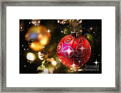 Sparkling Christmas Balls Framed Print by Carol Groenen