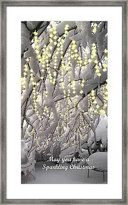 Sparkling Christmas Framed Print