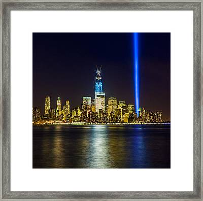 Sparkling Freedom Tower Framed Print by Chris Halford