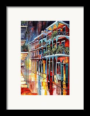 Sidewalks Framed Prints