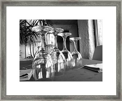 Sparkling Glasses Framed Print