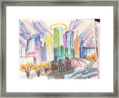 Sparkling Incubator Of The Blues Framed Print
