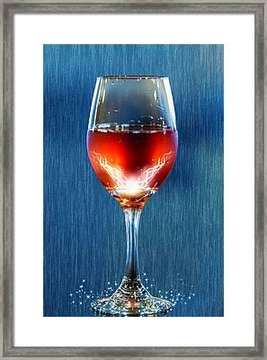 Sparkling Moscato Framed Print by Bill Tiepelman