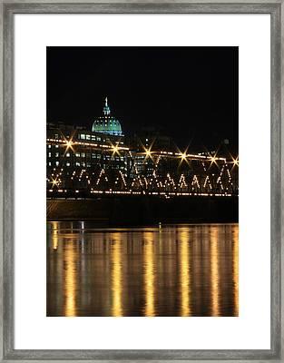 Sparkling Night Framed Print by Lori Deiter