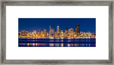 Sparkling Seattle Framed Print by Alexis Birkill