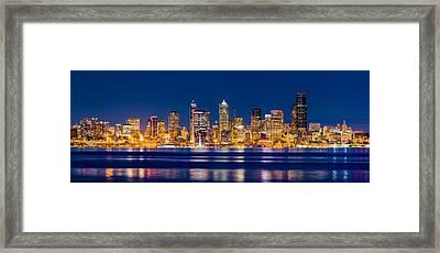 Sparkling Seattle Framed Print