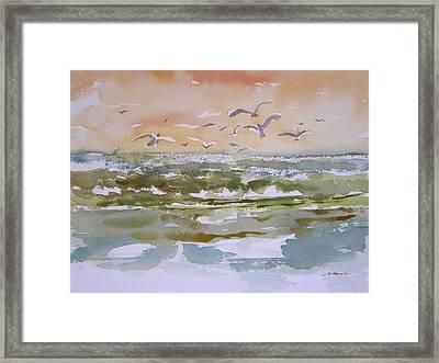 Sparkling Surf Framed Print by Julianne Felton