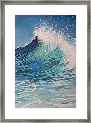 Sparkling Turquoise Framed Print