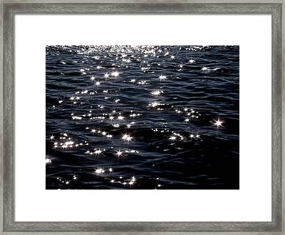 Sparkling Waters At Midnight Framed Print