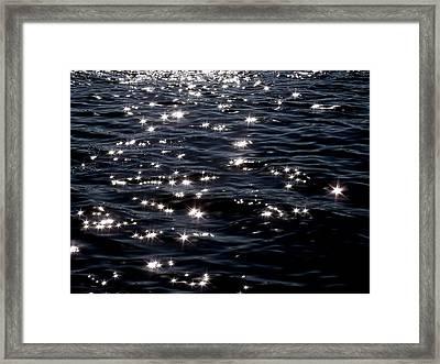 Sparkling Waters At Midnight Framed Print by Deborah  Crew-Johnson