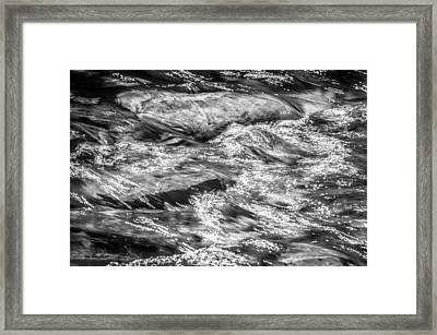 Sparkling Waters Glacier National Park  Bw Framed Print