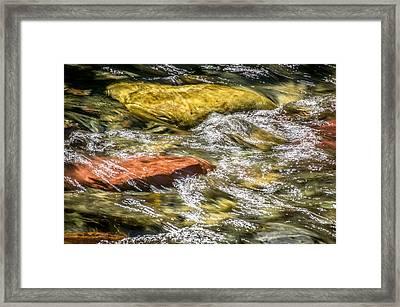 Sparkling Waters Glacier National Park Framed Print by Rich Franco