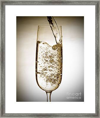 Sparkling Wine Framed Print by Andreas Berheide