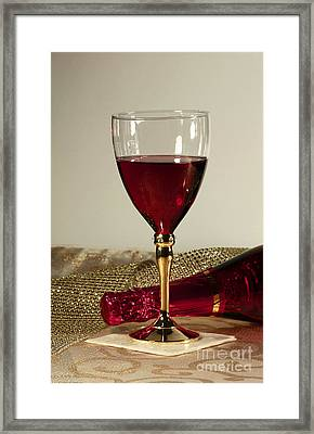 Sparkling Wine For One Framed Print by Inspired Nature Photography Fine Art Photography
