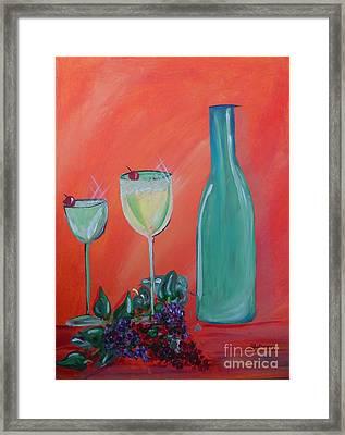 Sparkling Wine Glasses  Framed Print by Bobbi Groves