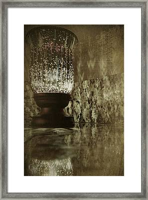 Sparkly Candleholder Framed Print by Bonnie Bruno