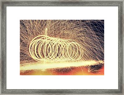Sparks Framed Print by Dan Sproul