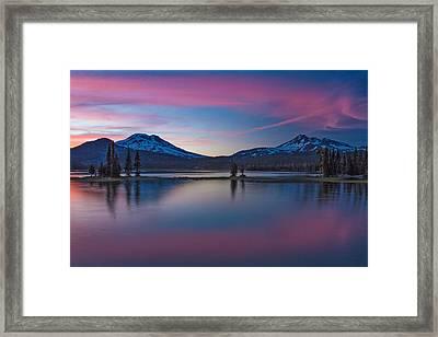 Sparks Lake Reflections Framed Print by Patricia Davidson