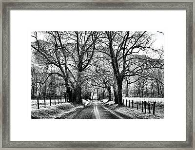 Sparks Lane During Winter Framed Print