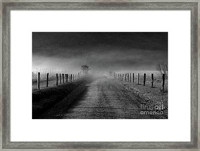 Sparks Lane In Black And White Framed Print