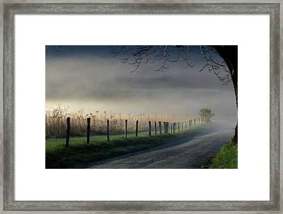 Sparks Lane Sunrise Framed Print by Douglas Stucky